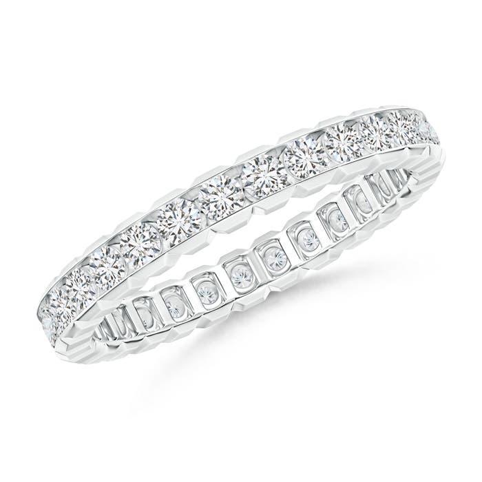 Box Set Diamond Eternity Wedding Band - Angara.com