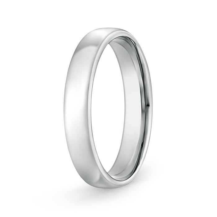 14k Gold Dome Mens Wedding Band High Polish Ring 4 5mm 5 3gm Size 6