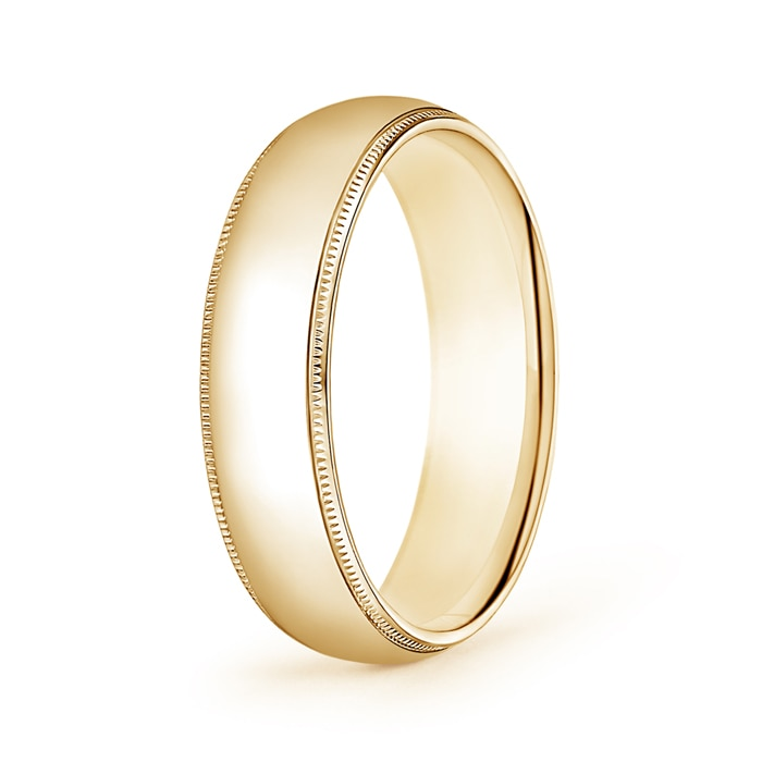 Platinum Double Milgrain 6mm Wide Flat Wedding Band Ring: 6mm Wide Classic Milgrain Comfort Fit Mens Wedding Band