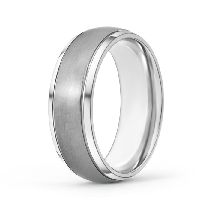 8 mm Tungsten Carbide Men's Wedding Band Satin Finish - Angara.com