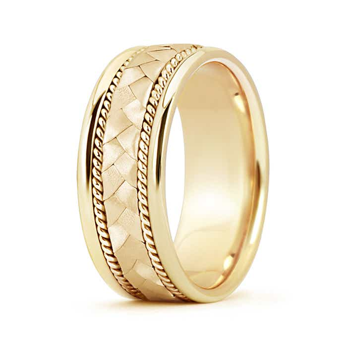 Wedding Band For Men.Hand Braided Twisted Rope Men S Wedding Band