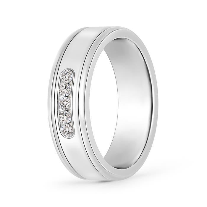 Angara Channel-Set Diamond Five Stone Mens Wedding Band 8z5Vw