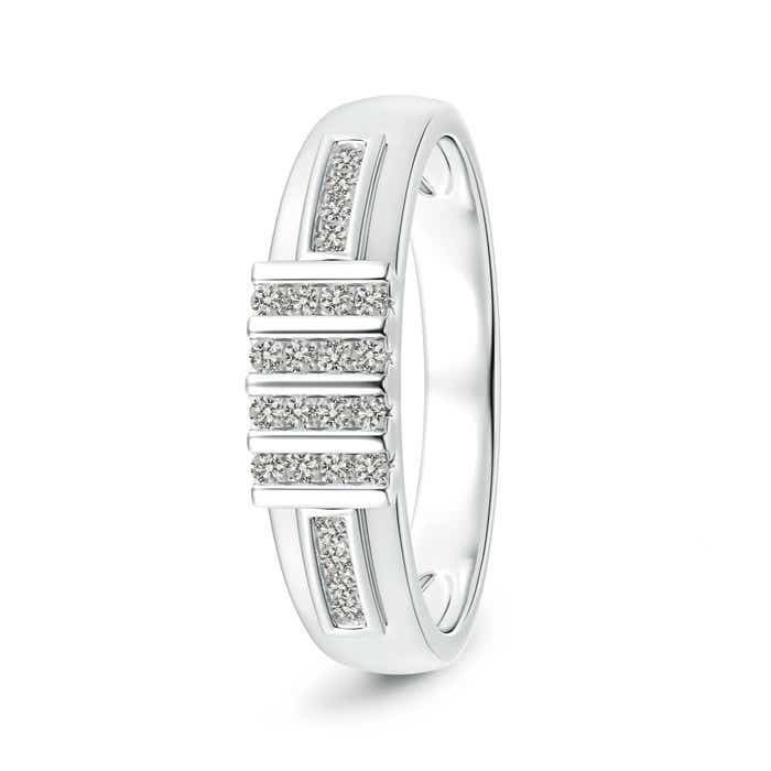 Angara Channel-Set Multiple Bar Diamond Mens Wedding Band 0ZhRW