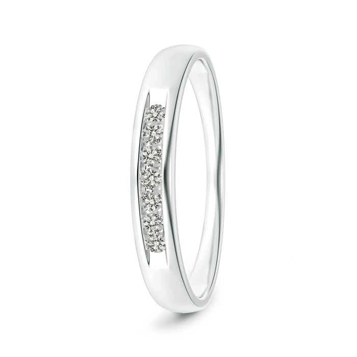 Angara Channel Grooved Classic Diamond Mens Wedding Band tVeJ8C