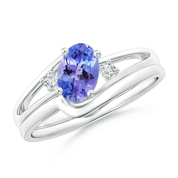 Solitaire Natural Tanzanite Engagement Ring Set without ...