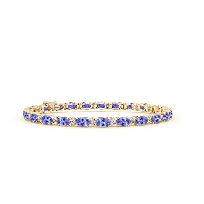 Classic Oval Tanzanite and Diamond Tennis Bracelet