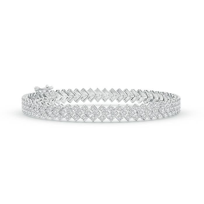 Encrusted Diamond Chevron Bracelet