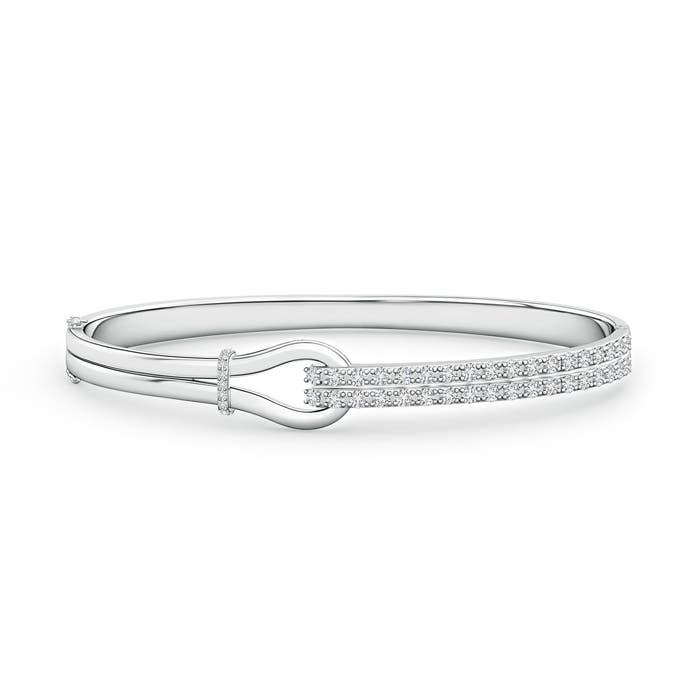Encrusted Interlocking Love Knot Diamond Bracelet