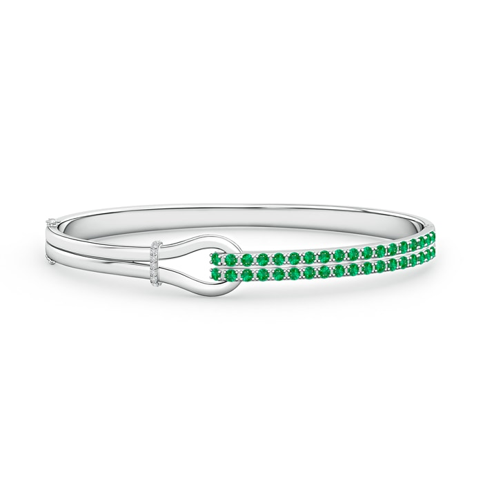 Encrusted Interlocking Love Knot Emerald Bracelet