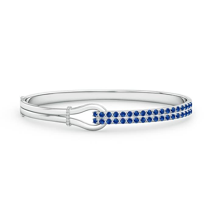 Encrusted Interlocking Love Knot Sapphire Bracelet
