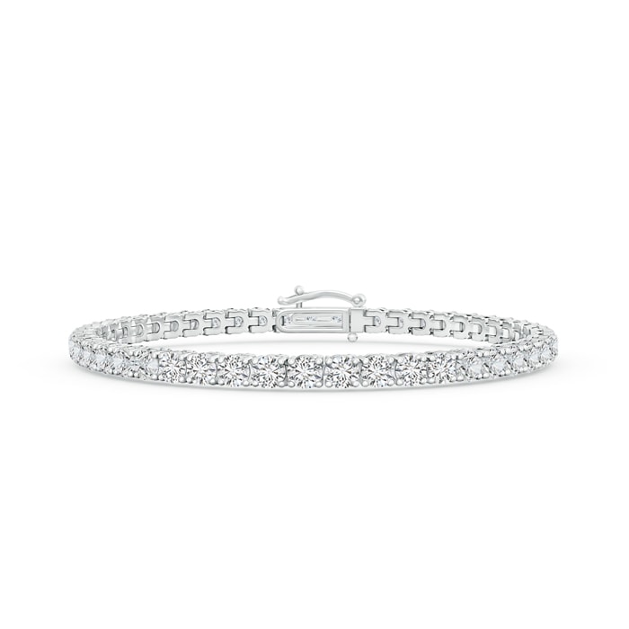 Four Prong Set Tennis Diamond Eternity Bracelet