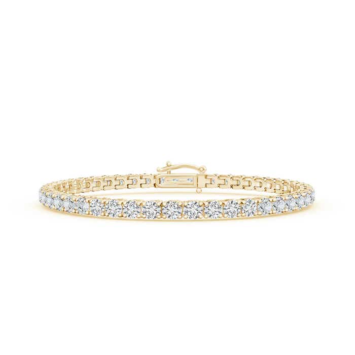 Four Prong Set Tennis Diamond Eternity Bracelet