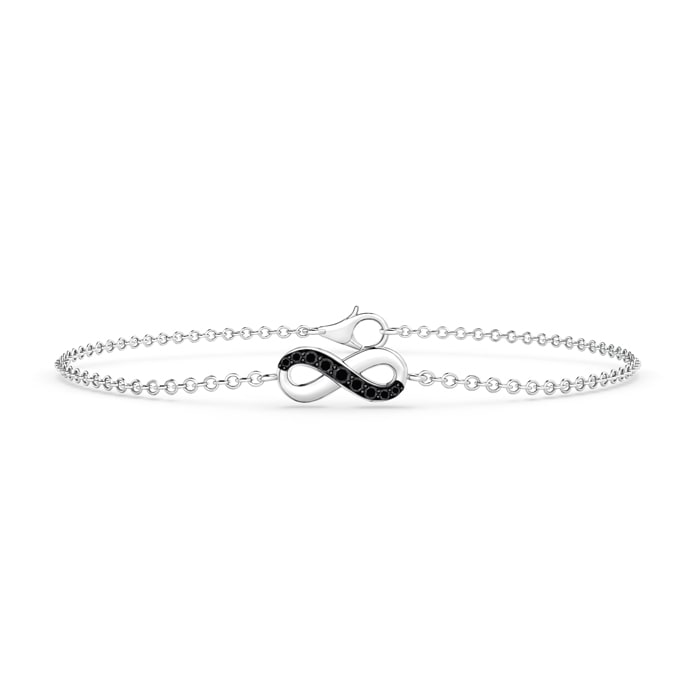 Black Diamond Infinity Bracelet with Chain