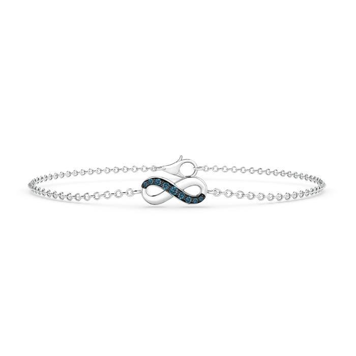 Blue Diamond Infinity Bracelet with Chain