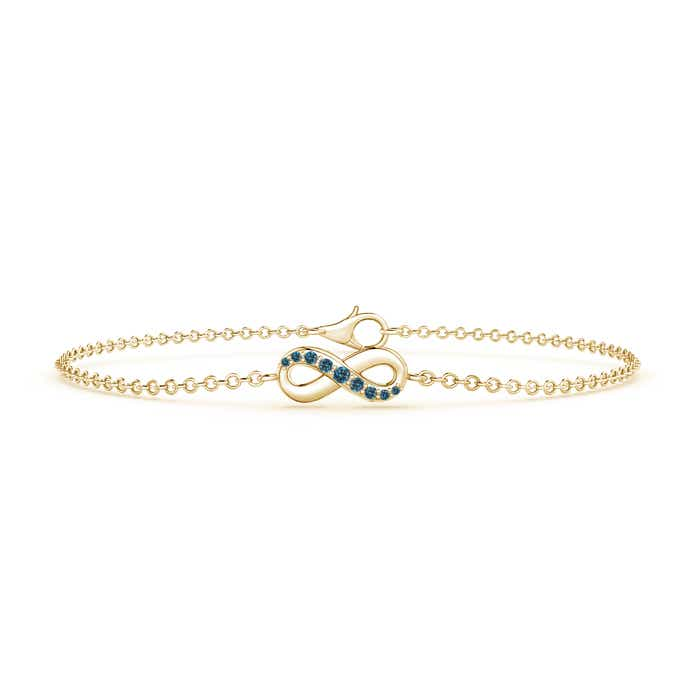 Blue Diamond Infinity Bracelet with Chain