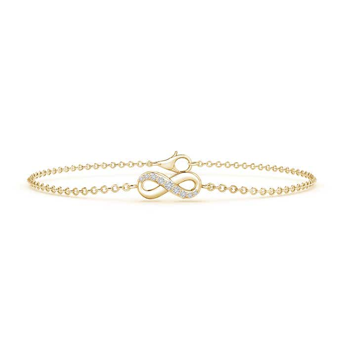 Diamond Infinity Bracelet with Chain