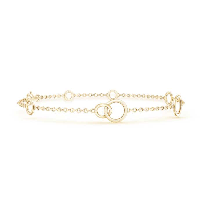 Shiny Intertwined Open Circle Link Bracelet