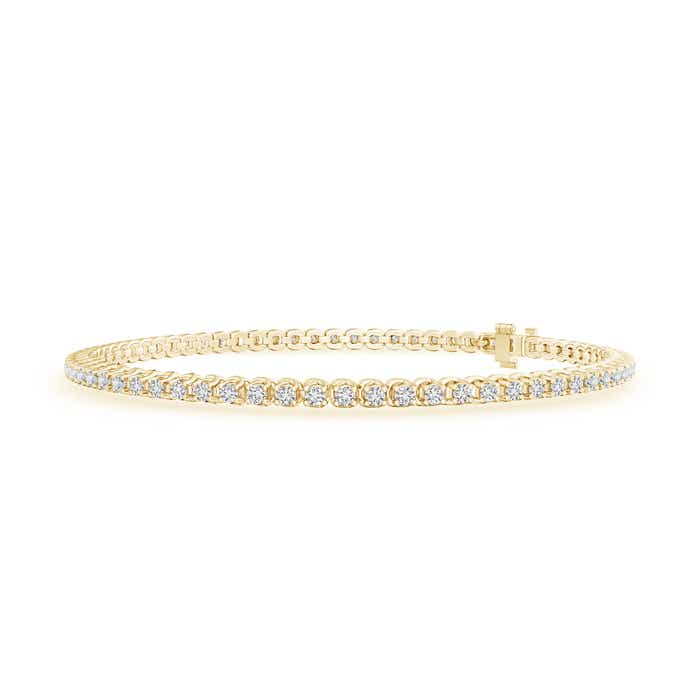 Four Prong Set Eternity Diamond Tennis Bracelet