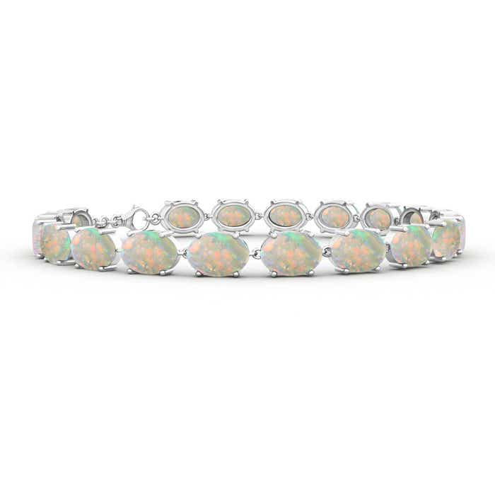 Classic Linked Oval Opal Tennis Bracelet