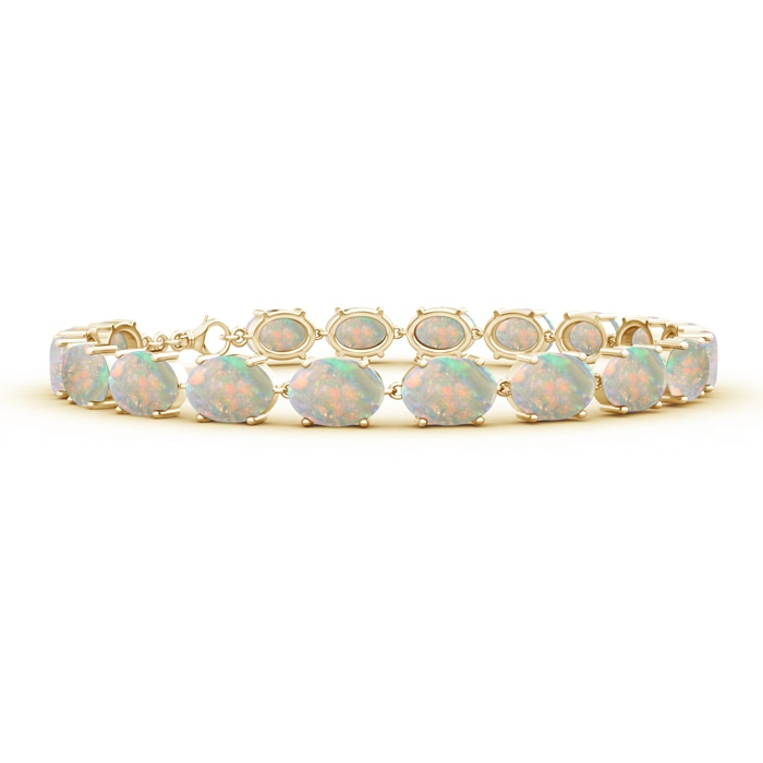 Classic Linked Oval Opal Tennis Bracelet