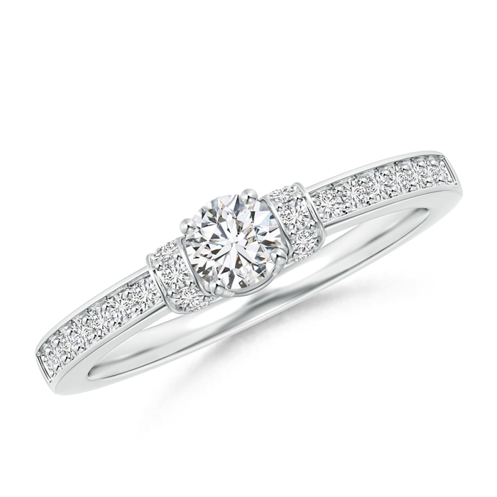 Four Prong Round Diamond Solitaire Engagement Ring