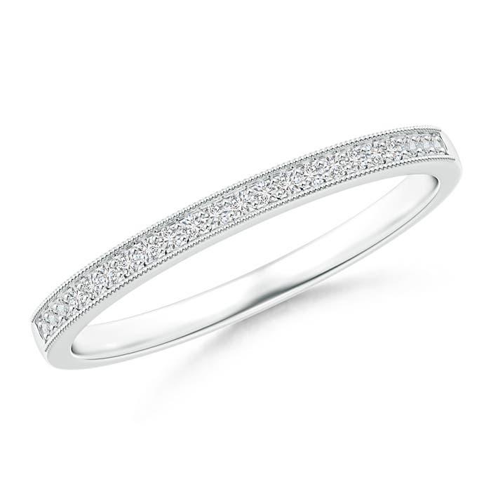 Pave-Set Diamond Half Eternity Wedding Band for Her
