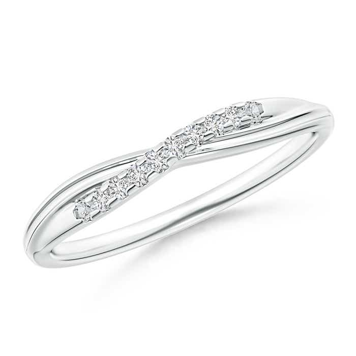 Criss Cross Diamond Wedding Band for Her