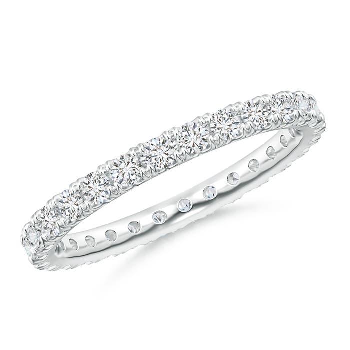 Fishtail-Set Diamond Eternity Wedding Band